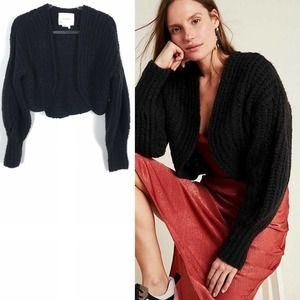 NEW Anthropologie Rae Cropped Knit Cardigan Small
